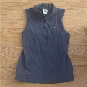 Offers :) Lacoste blue polo sleeveless top size 42